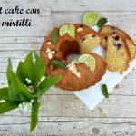 Bundt cake con mirtilli e lime senza lattosio