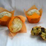 Muffin con mirtilli e semi di chia, senza lattosio