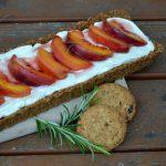 Crostata cheesecake con pesche caramellate #bioimpronta