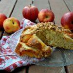 Torta di mele e pesche senza lattosio