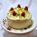 Fluffosa al pistacchio e crema al mascarpone e cioccolato bianco